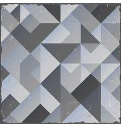 Monochrome retro geometric background vector