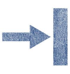 Move right fabric textured icon vector