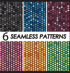patterns with crystals vector image