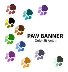 paw banner background vector image