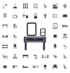 Pier glass table icon vector