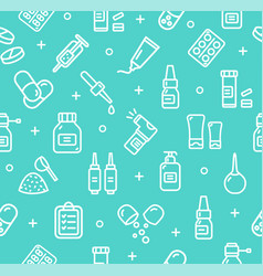 pills related medical pattern background vector image