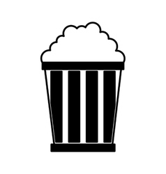 pop corn delicious icon vector image