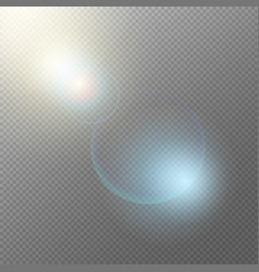 Realistic light elements concept vector
