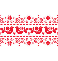 Scandinavian christmas seamless pattern vector
