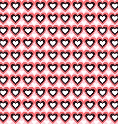 Seamless Heart Background Pattern Love vector image