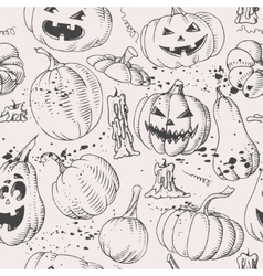 Seamless pumpkins vector image