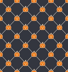 Seamless Texture with Carving Pumpkins vector image