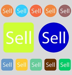 Sell sign icon Contributor earnings button 12 vector
