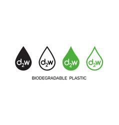 set biodegradable plastic icons d2w vector image