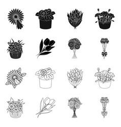 Spring and wreath logo set vector