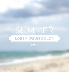 Summer time retro defocused old background vector image