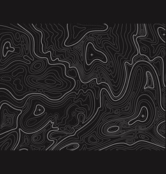 terrain map topographic contouring line vector image