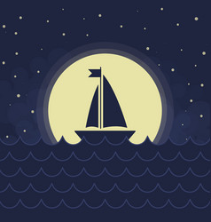 The sailboat silhouette vector