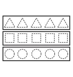 Tracing lines for preschool or kindergarten vector