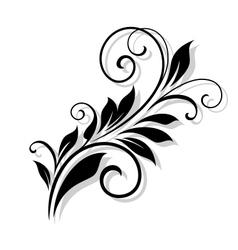 Vintage floral element vector