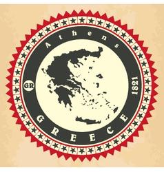 Vintage label-sticker cards of Greece vector image vector image
