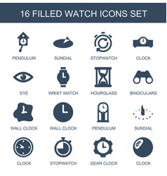 watch icons vector image