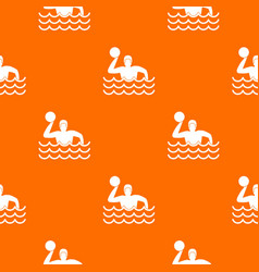 water polo pattern seamless vector image