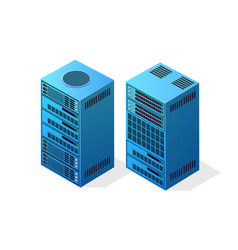 web server computer vector image