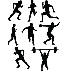 athletics silhouette vector image vector image