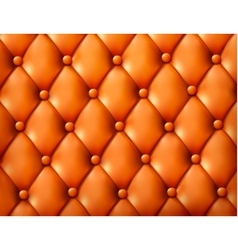 Brown button-tufted leather background vector image