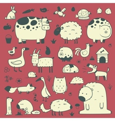 domestic and forest animals vector image