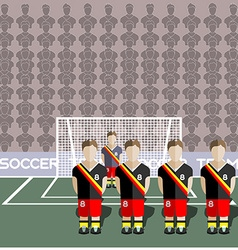 Belgium Soccer Club Penalty on a Stadium vector image vector image