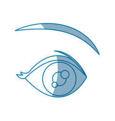 cartoon eye vision optical design vector image vector image