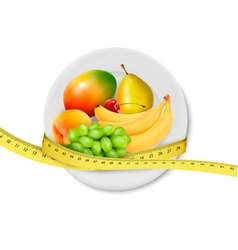 Diet meal Fruit vector image