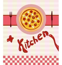 set for the pizza menu vector image