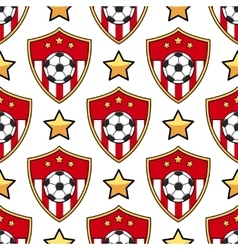 Sport seamless pattern soccer vector image vector image