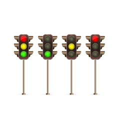 traffic light icon set vector image vector image