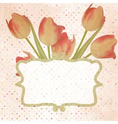 Vintage paper flowers template EPS 10 vector image vector image
