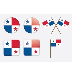 badges with flag of Panama vector image vector image