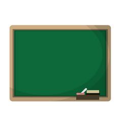 Chalkboard eraser white chalk vector