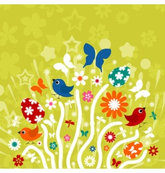 Easter background3 vector image vector image