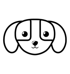face dog domestic mammal outline vector image vector image