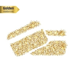 Gold glitter icon of credit card isolated vector image vector image
