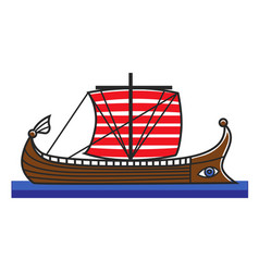 greek boat odyssey argonauts for greece travel vector image