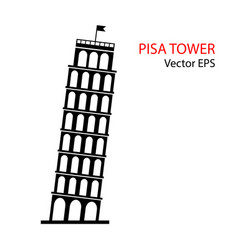 leaning tower of pisa italy icon vector image