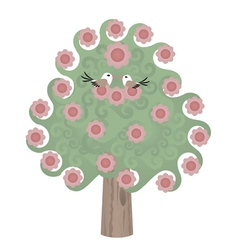 nature design trees vector image