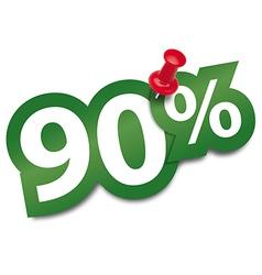 Ninety percent sticker vector image vector image