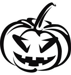 pumkin halloween symbol vector image