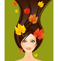 autumn woman vector image vector image