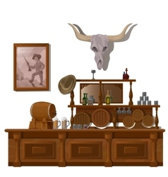 Bar in wild West style decor location vector image vector image