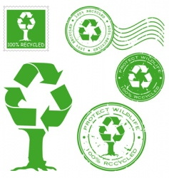recycled icons vector image