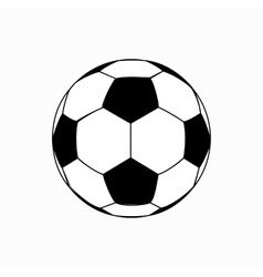 Soccer ball icon isometric 3d style vector image