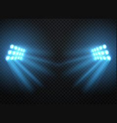 stadium lights shiny projectors isolated vector image