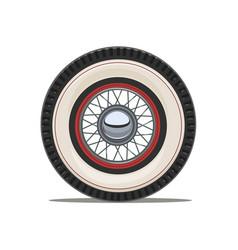 vintage car wheel with spoke vector image